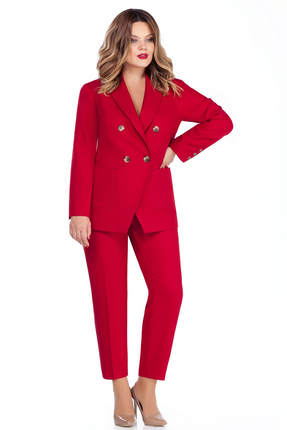 женский брючный костюм teza, красный