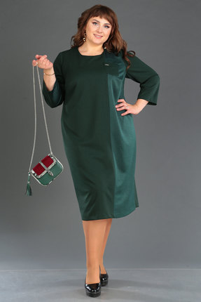 женское повседневные платье новелла шарм, зеленое