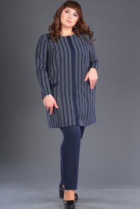 женский брючный костюм новелла шарм, синий