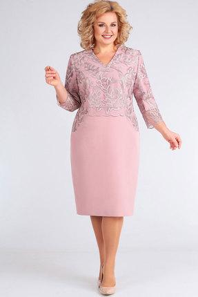 женское вечерние платье асолия, розовое