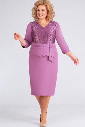 женское вечерние платье асолия, сиреневое