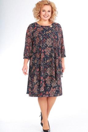 женское повседневные платье славияэлит, синее