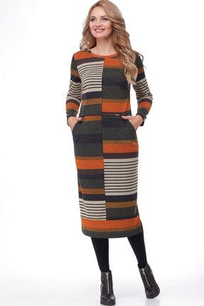 женское повседневные платье bonna image, разноцветное