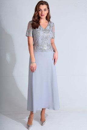 женское вечерние платье golden valley, голубое