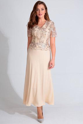 женское вечерние платье golden valley, кремовое
