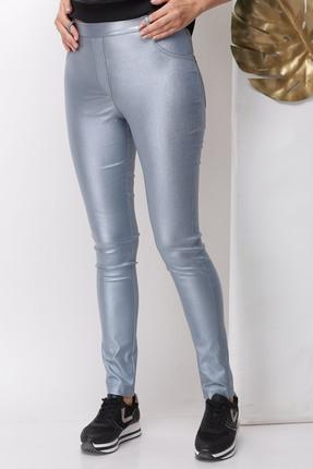 Женские серые темные брюки на резинке классика