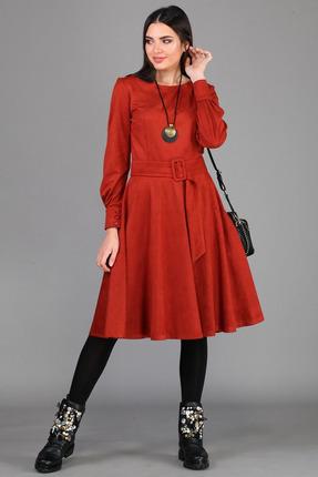 женское повседневные платье b&f, красное