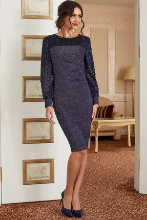 Платье Lissana 3879 сине-сиреневый