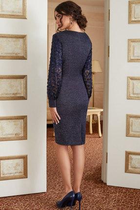 Фото 2 - Платье Lissana 3879 сине-сиреневый сине-сиреневого цвета