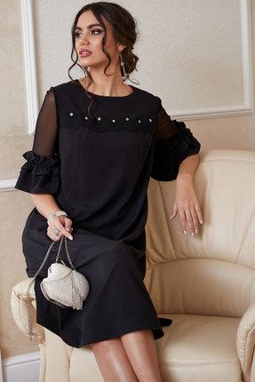 Фото 3 - Платье Lissana 3891 черный черного цвета