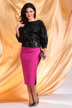 Комплект юбочный Мода-Юрс 2382 черный + фуксия