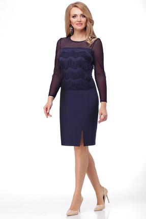 Платье Мишель стиль 820 темно-синий