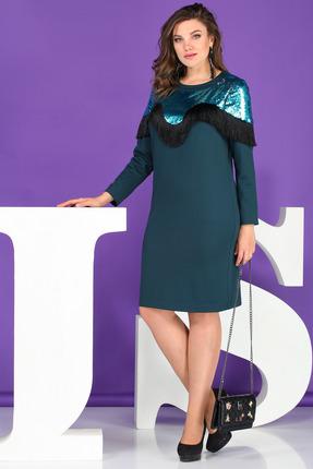 Платье Juliet Style Д103 зеленый
