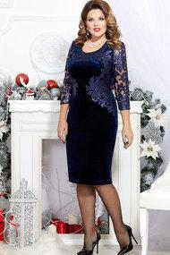 Платье Mira Fashion 4361-6 тёмно-синий