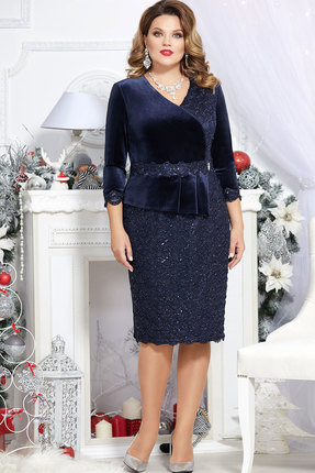 Платье Mira Fashion 4699 тёмно-синий