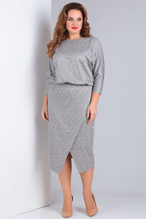 Платье Vasalale 658 серый