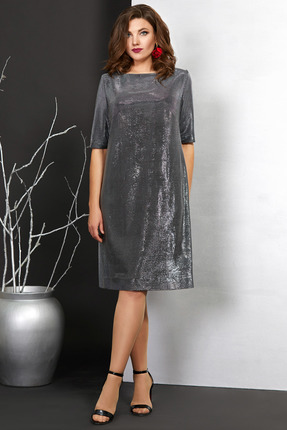 Платье Мублиз 406 серебро