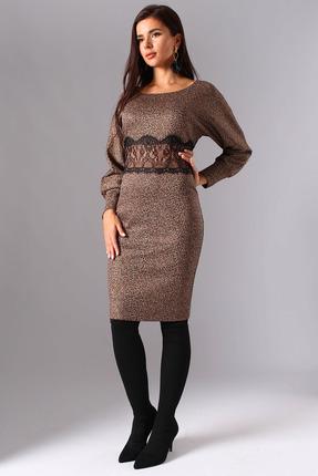 Платье Миа Мода 1096 леопардовый
