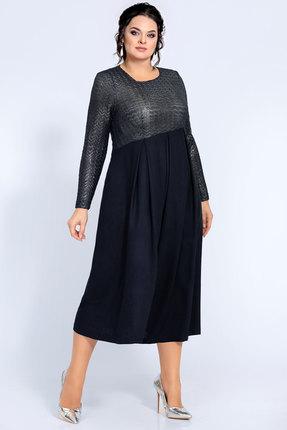 Платье Джерси 1845 синий