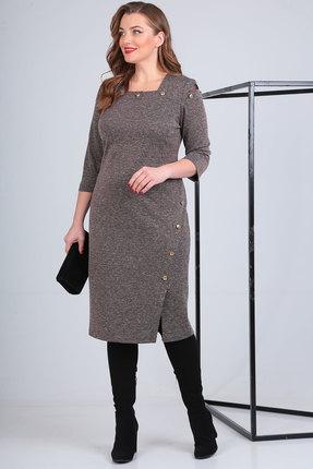 Платье Viola Style 0887 капучино