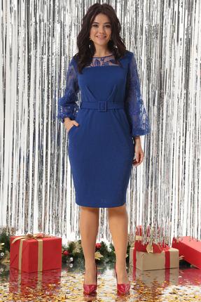 Платье Solomeya Lux 648 василек с синим