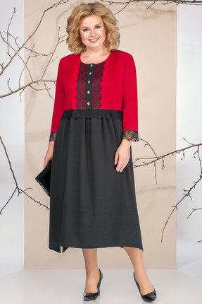Платье Ivelta plus 1662 черный с красным