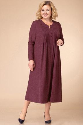 женское повседневные платье линия-л, бордовое
