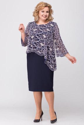 Платье TricoTex Style 30-19 синий с розовым