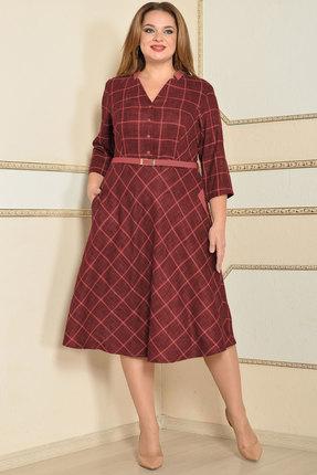Платье Lady Style Classic 1201 бордовый