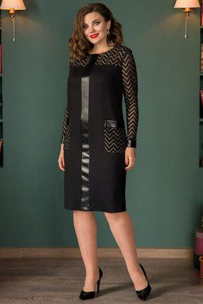Платье Галеан Cтиль 674 черный с бежевым