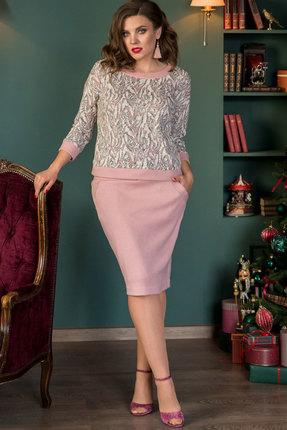 Комплект юбочный Галеан Cтиль 722 розовые тона