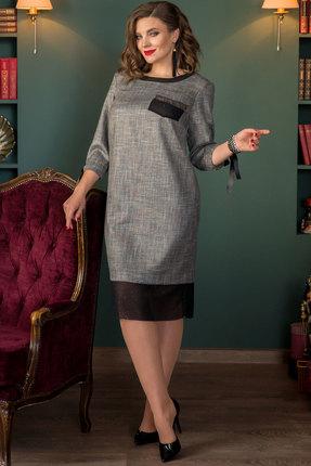 Платье Галеан Cтиль 723 серый