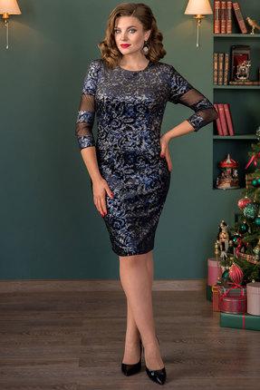 Платье Галеан Cтиль 726 синий