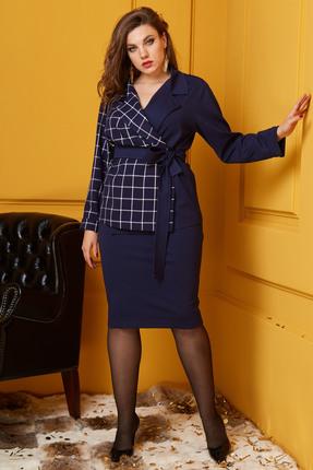 Комплект юбочный Anastasia 357 синий