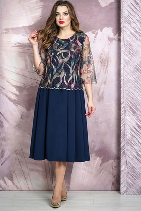 Платье Белтрикотаж 4265 синий БЕЛТРИКОТАЖ