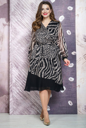 Платье Белтрикотаж 6874 черно-серый БЕЛТРИКОТАЖ