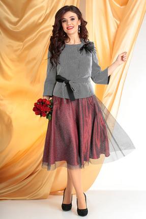 Комплект юбочный Мода-Юрс 2520 серебро+красный