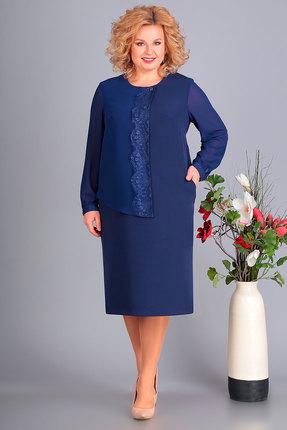 Платье Algranda 3367 синий Новелла Шарм