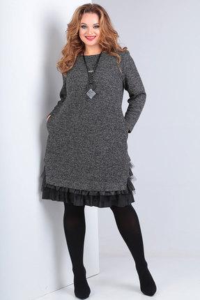 Платье Andrea Style 00233 серый