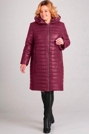 Пальто Асолия 3518 бордовый