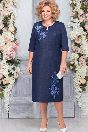 Платье Ninele 2227 тёмно-синий