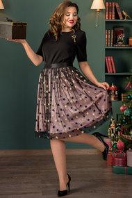 Комплект юбочный Галеан Cтиль 732 черный с кофейным