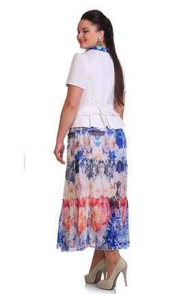 Комплект юбочный Golden Valley 6014 бело-синий от PRESLI