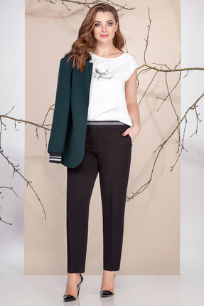 женский брючный костюм ivelta plus, зеленый