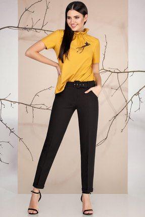 женский брючный костюм ivelta plus, желтый
