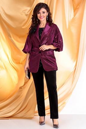 женский брючный костюм мода-юрс, фуксия