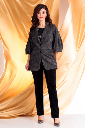 женский брючный костюм мода-юрс, черный