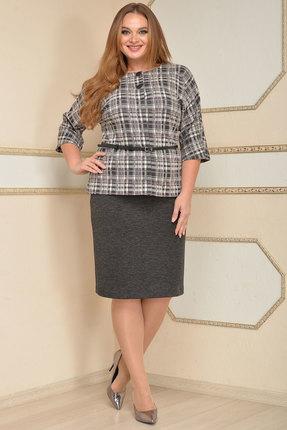 Комплект юбочный Lady Style Classic 1654/1 серые тона