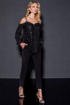 женский брючный костюм vesnaletto, черный