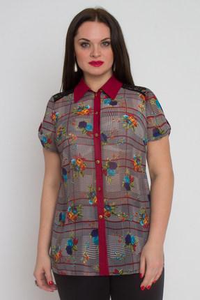 Блузка Дали 587 серо-бордовый от PRESLI